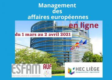 En parallèle du plan de relance économique de l'Union Européenne, l'ESFAM propose une certification sur le management de projets européens